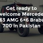 Get Ready to Welcome this huge Mercedes G63 AMG 6×6 Brabus 700 in Pakistan