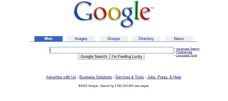 Google looks in 2003