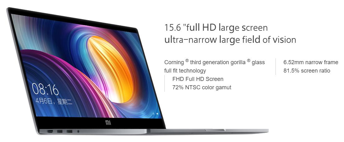 Mi Notebook Pro Screen Size