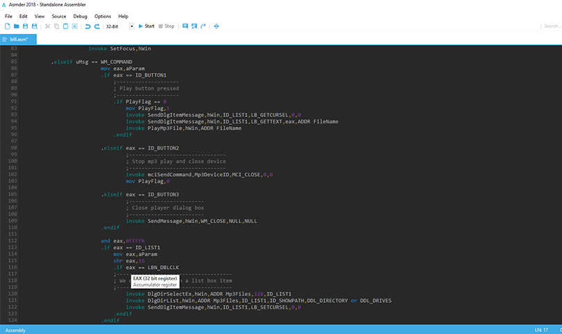 Asmder: The new but most powerful IDE for Assembly Language