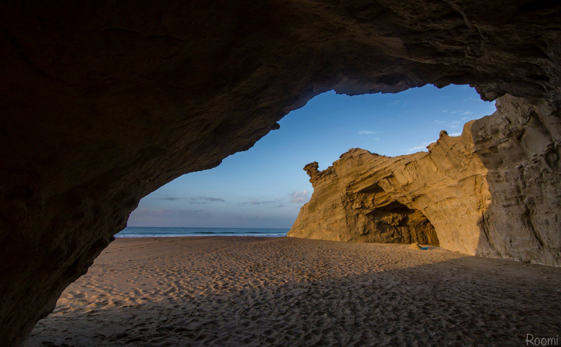 View from cave at sapat beach, Balochistan, Pakistan