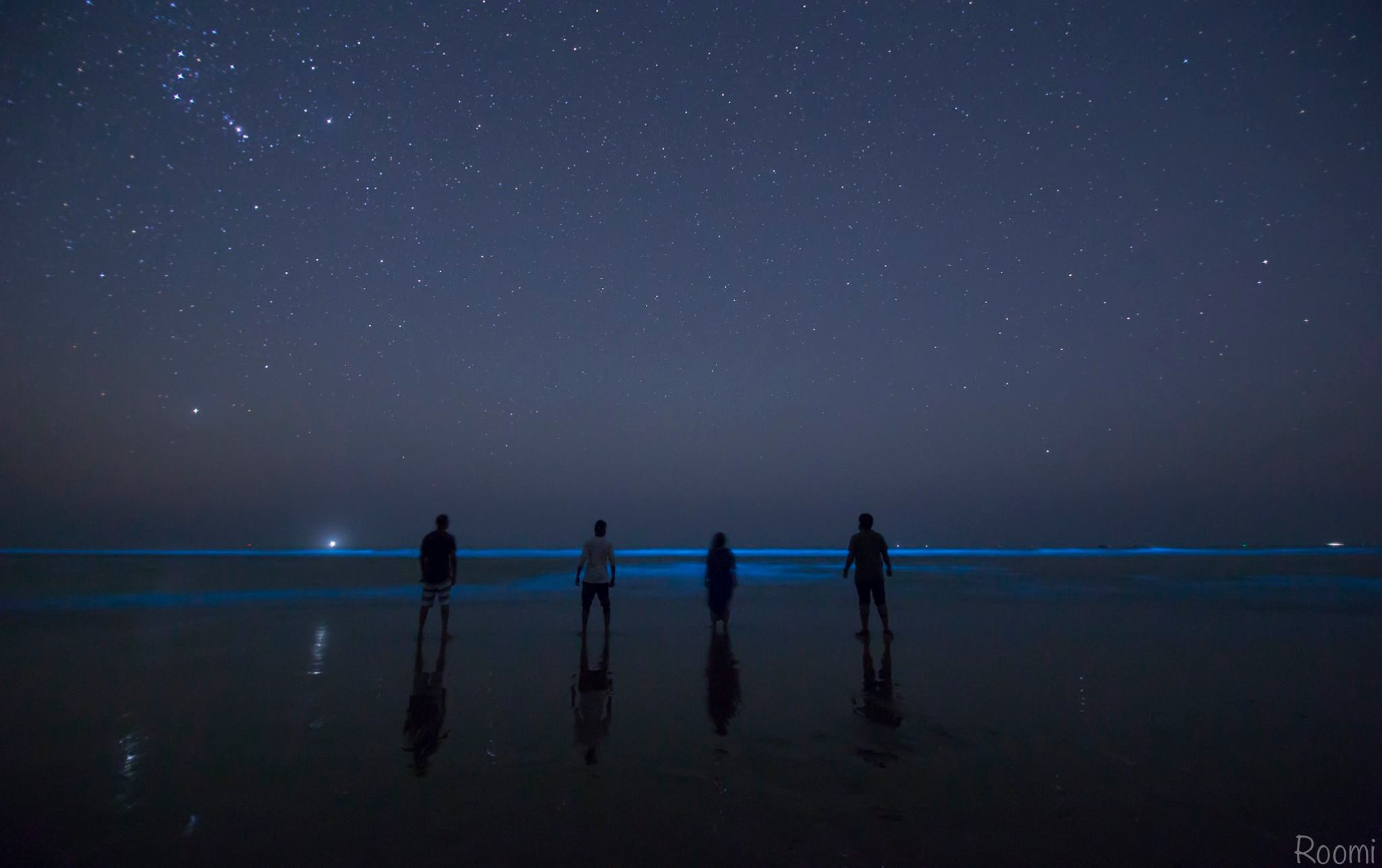 Bioluminescence at Sapat Beach, Baluchistan. Most people are not aware of this.
