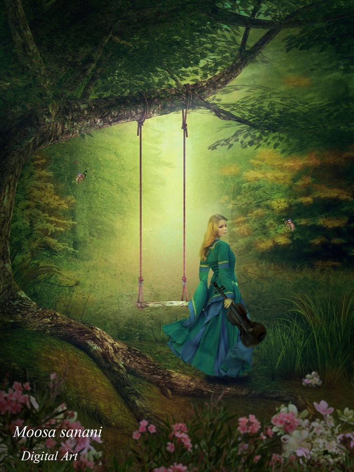 Digital painting art by Moosa Sanani