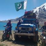 Local driver reached Karambar lake for the first time on a vehicle
